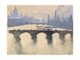 Out of My London Window: Dome and Spires and Chimneys, Mist and Smoke Giclee Print by Joseph Pennell