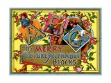 The Merry Picture Alphabet Blocks Giclee Print