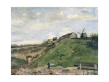 Montmartre Hill with Stone Quarry Giclee Print by Vincent van Gogh