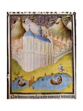Carthusian Monks Netting and Hooking Fish in Monastery Fishponds at Chartreuse Giclee Print