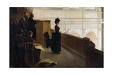 The Organ Rehearsal Giclee Print by Henry Lerolle