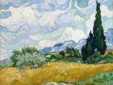 Wheat Field with Cypresses Impression giclée par Vincent van Gogh