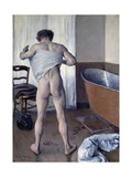 Man at His Bath Giclee Print by Gustave Caillebotte