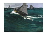 The Green Wave Giclee Print by Claude Monet