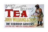 Advertisement for Tea from John Williams and Sons Grocers Giclee Print