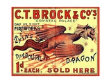 C.T. Brock and Co.'s Crystal Palace Fireworks Advertisement Giclee Print