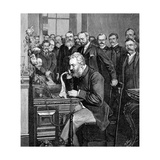 Alexander Graham Bell Making Telephone Call Giclee Print