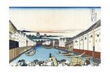 Nihonbashi Bridge in Edo Giclee Print by Katsushika Hokusai