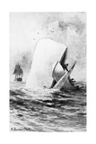 Illustration of the White Whale Giclee Print by A. Burnham Shute