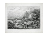 The Rocky Mountains: Emigrants Crossing the Plains Giclee Print by  Currier & Ives