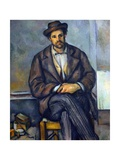 Seated Peasant Giclee Print by Paul Cézanne