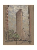 The Flatiron Building from Fifth Avenue and Twenty-Seventh Street, New York City Giclee Print by Joseph Pennell