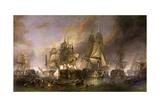 La battaglia di Trafalgar Stampa giclée di William Clarkson Stanfield