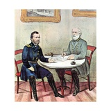 Meeting of Generals Grant and Lee Impression giclée