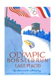 Olympic Bobsled Run Lake Placid Poster Giclée-Druck