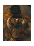 Moses with the Ten Commandments Giclee Print by  Rembrandt van Rijn
