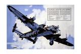 Avro Lancaster Heavy Bomber Giclee Print