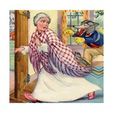 Big Bad Wolf Chasing Grandmother Giclee Print