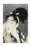 Ase O Fuku Onna (Woman Wiping Sweat) Giclee Print by Kitagawa Utamaro