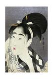 Ase O Fuku Onna (Woman Wiping Sweat) Gicleetryck av Kitagawa Utamaro