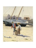 A Basket of Clams Giclee Print by Winslow Homer