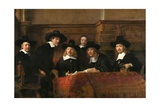 The Syndics: the Sampling Officials (Wardens) of the Amsterdam Drapers Guild Giclée-tryk af  Rembrandt van Rijn