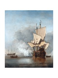 The Cannon Shot Giclee Print by Willem Van De Velde The Younger