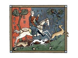 A Plantagenet King of England Out Hunting Giclee Print