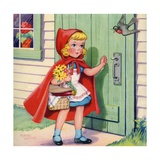 Little Red Riding Hood Arriving at Grandmother's House Giclee Print