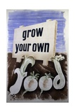 Grow Your Own Food Poster Giclee Print