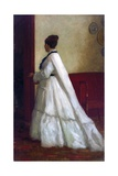 Woman in a White Dress Giclee Print by Eastman Johnson