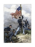 Planting the Union Flag on a Bastion at the Siege of Vicksburg Giclee Print