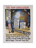 The New Education Recruiting Poster Giclee Print