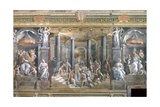 Baptism of Constantine Impression giclée par  Raphael