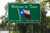 Welcome to Texas Sign Photographic Print by Paul Souders