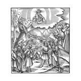 Moses Receiving the Tablets of the Law from God Giclee Print