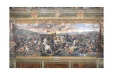 Constantine's Battle at the Milvian Bridge Reproduction procédé giclée par  Raphael