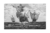The Nina, Pinta, and Santa Maria Giclee Print