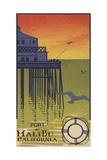 Port of Malibu California Postcard Impression giclée