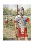 Roman Soldier in Armor Giclee Print
