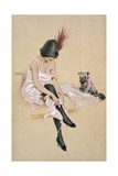 Riquette and Her Dog Giclee Print