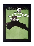 Rugby Player Giclee Print