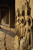 Bas Relief Sculptures at Angkor Wat Photographic Print by Paul Souders