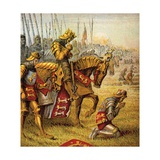 The Battle of Agincourt Lámina giclée