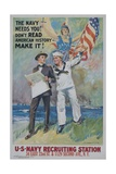 The Navy Needs You! Recruiting Poster Giclee Print