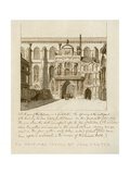 South View of the Entrance to Guildhall in the City of London Giclee Print