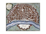 Plan of the City of Cologne Giclee Print