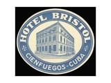 Hotel Bristol Cienfuegos Cuba Giclee Print