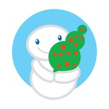 A Snowman Holding a Small Christmas Tree Giclee Print