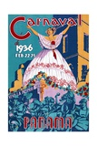 Poster for the 1936 Panama Carnaval Giclee Print